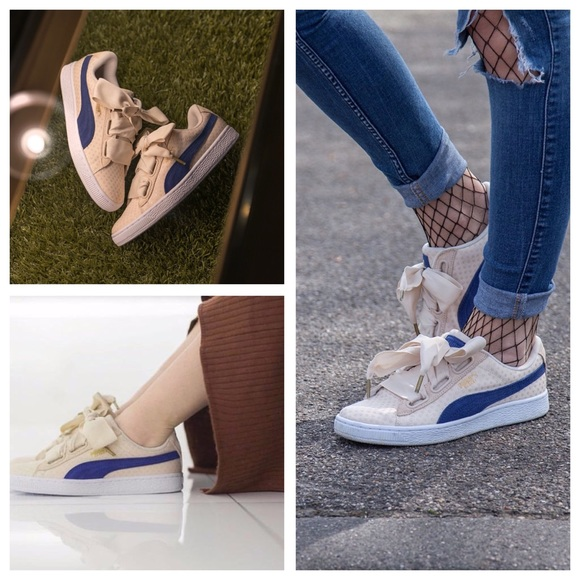 puma basket denim sneaker